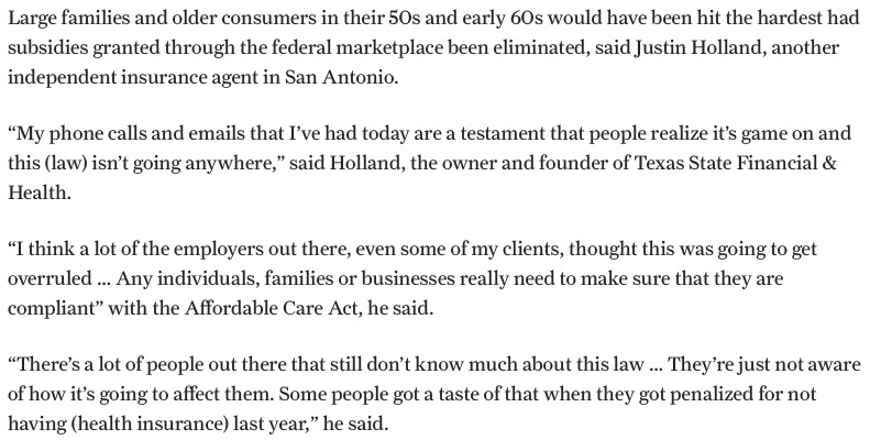 Justin Holland Quotes for San Antonio Express News (1)